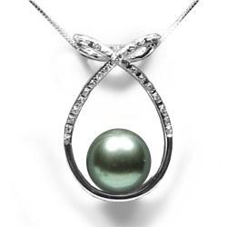 Pendentif perle de Tahiti Or 18 Carats et diamants