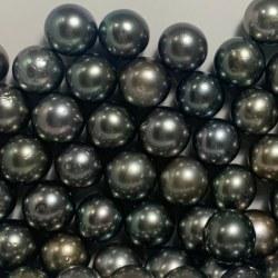 Perle de culture de Tahiti de 11 à 12 mm qualité AA semi-percée