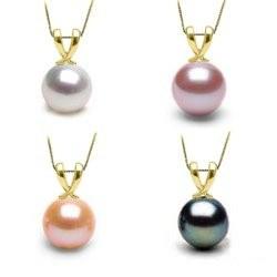 Pendentif Ruban Or 18k et perle de culture d'Eau Douce AAA