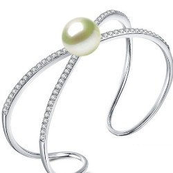 Bracelet en Argent 925 et perle d'Akoya 9-9,5 mm AAA
