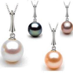 Pendentif en Argent 925 perle de culture d'Eau Douce qualité AAA