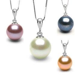 Pendentif en Argent 925 et perle de culture d'Eau Douce AAA