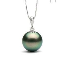 Pendentif en Argent 925 perle de culture de Tahiti
