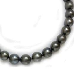 Collier 43 cm de perles de Tahiti rondes de 11 à 12 mm qualité AA