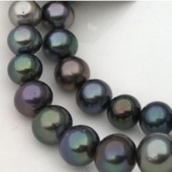 Collier 43 cm de perles de Tahiti de 8,0 à 11,1 mm qualité AA/AA+