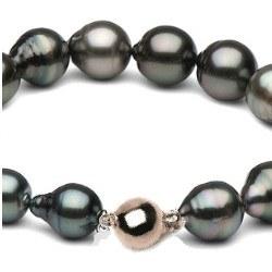 Bracelet 18 cm de perles baroques de Tahiti de 8,5 à 11 mm