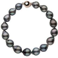 Bracelet 18 cm de perles baroques de Tahiti de 8,5 à 9 mm Or 14k