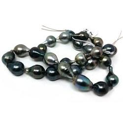 Collier 43/44 cm de perles de Tahiti baroques de 10 à 12 mm