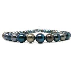 Collier 43/44 cm Perles de Tahiti semi rondes 8,0 à 11,1 mm AA/AA+