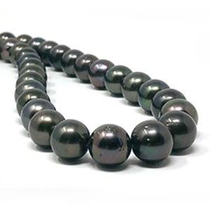 Collier de perles de Tahiti de 10,9 à 11,87 mm qualité AA longueur 43 à 44 cm