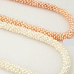 Collier de perles d'Eau Douce de 2 mm forme de patate de 45 cm
